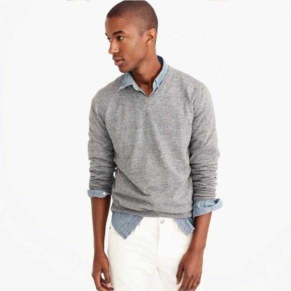 a12d1b8e4 J.Crew men's slim rugged cotton v-neck sweater